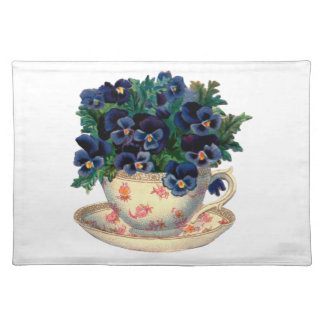 Flowers in a Teacup Vintage Art Placemat