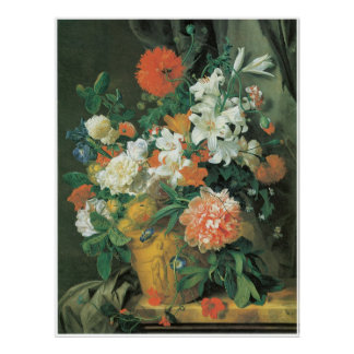 Flowers in A terra Cotta Vase 1720s Poster
