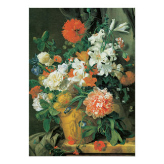 Flowers in a Terra Cotta Vase Poster