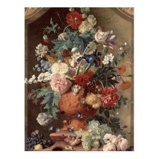 Flowers in a Terracotta Vase, 1736 Postcard