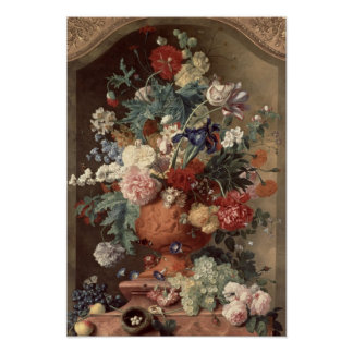 Flowers in a Terracotta Vase, 1736 Print