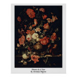 Flowers In A Vase By Abraham Mignon Posters