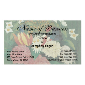 Flowers in a Vase by Henri Rousseau Vintage Floral Pack Of Standard Business Cards
