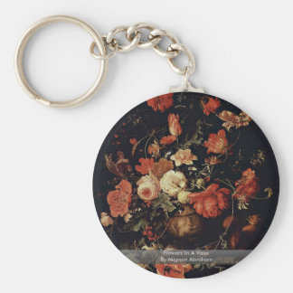 Flowers In A Vase By Mignon Abraham Keychains