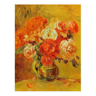 Flowers in a Vase by Pierre-Auguste Renoir Postcard