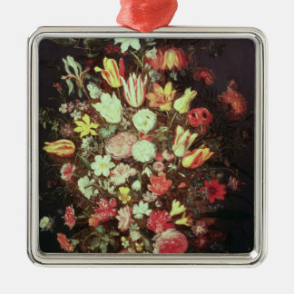 Flowers in a vase christmas ornament