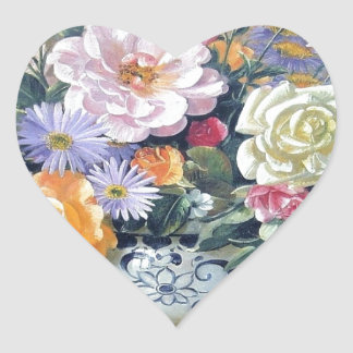 Flowers in a vase stickers