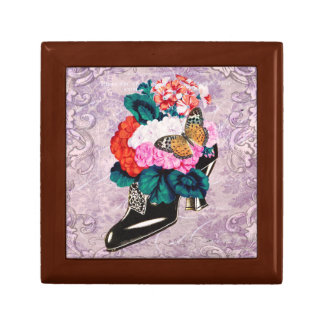 Flowers in Antique Shoe Gift Box