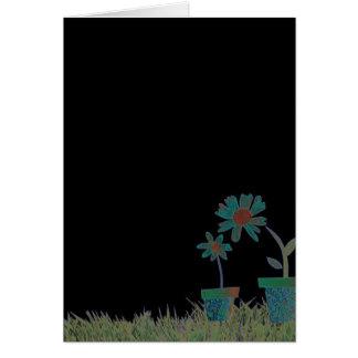 Flowers in black card