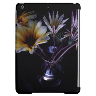 flowers in black iPad air cover
