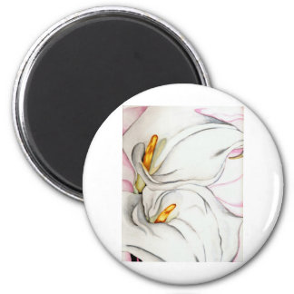 Flowers in Bloom 6 Cm Round Magnet