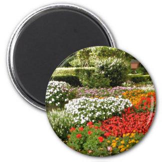 Flowers in Bloom 6 Cm Round Magnet