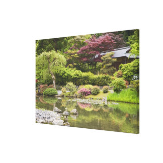 Flowers in bloom at Japanese Garden, Canvas Print