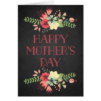 Flowers in Bloom Chalkboard Mother's Day Card