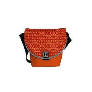 Flowers in Bloom - Orange Messenger Bag