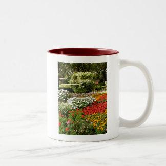 Flowers in Bloom Two-Tone Coffee Mug