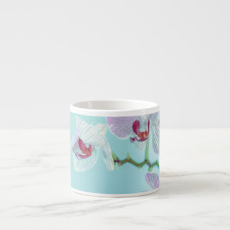 Flowers in Blue Espresso Cup