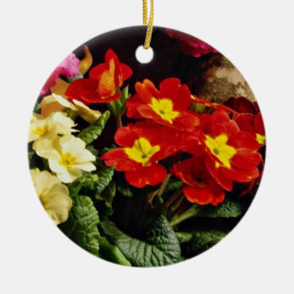 Flowers in brass bowl  flowers christmas ornaments