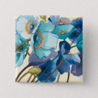 Flowers in Different Shades of Purple and Blue 15 Cm Square Badge