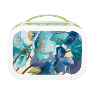 Flowers in Different Shades of Purple and Blue Lunch Box