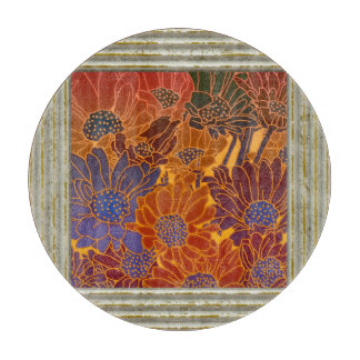 Flowers In Earth Colors Cutting Board