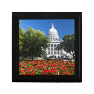 Flowers In Front Of State Capitol Building Gift Box
