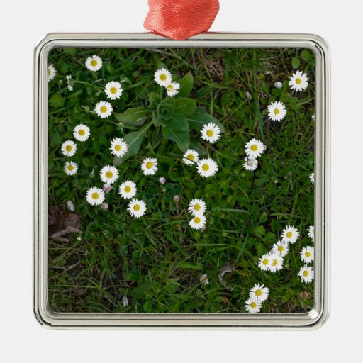 Flowers in Grass Christmas Tree Ornament