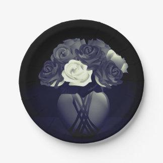 Flowers in Heart Vase Paper Plates