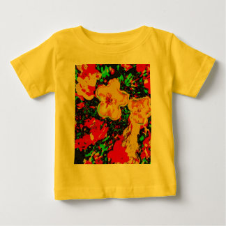 Flowers in red and orange tshirts