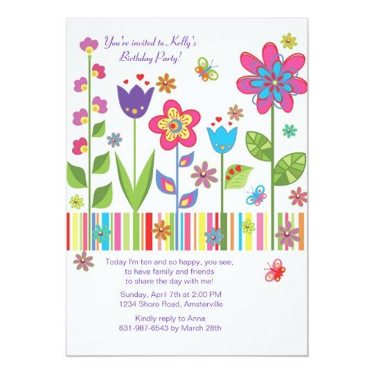 Flowers in the Garden Invitation