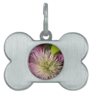 flowers in the garden pet ID tag