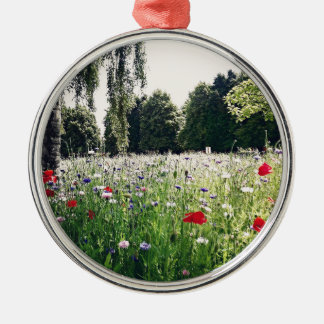Flowers in the park christmas ornament
