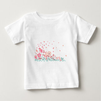 Flowers in the wind baby T-Shirt
