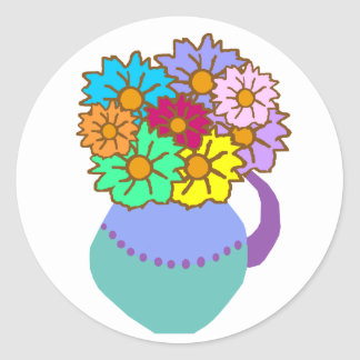 Flowers in vase stickers