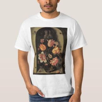 Flowers in Vase, Vintage Baroque Floral Still Life T Shirt