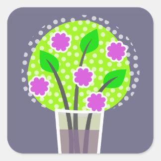 Flowers in Vase - violet Stickers