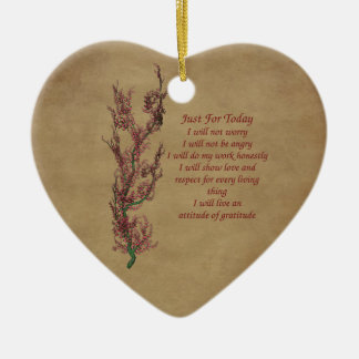 Flowers Inspirational Words Ornament