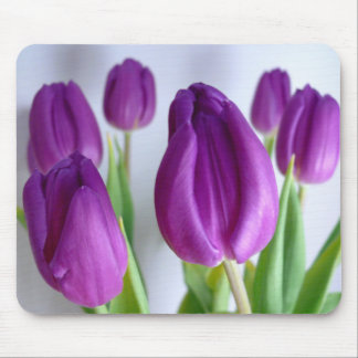 FLOWERS: Lavender Tulips Mouse Mat