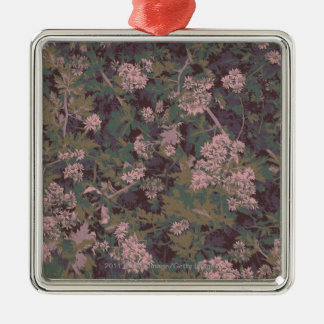 Flowers, leafs, and camouflage christmas ornament