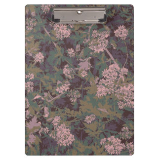Flowers, leafs, and camouflage clipboard