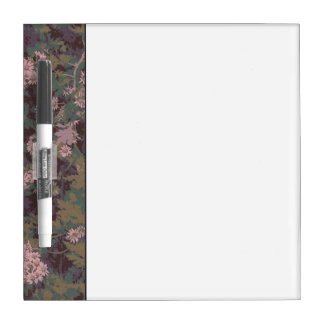 Flowers, leafs, and camouflage dry erase board