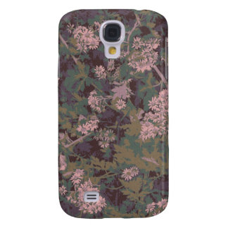 Flowers, leafs, and camouflage galaxy s4 case