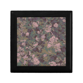 Flowers, leafs, and camouflage gift box