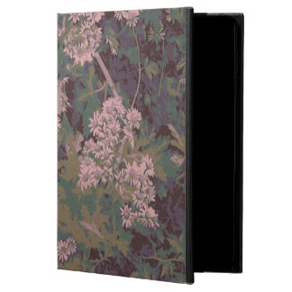 Flowers, leafs, and camouflage iPad air cover