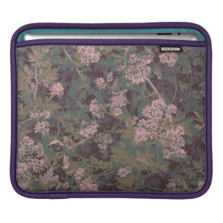Flowers, leafs, and camouflage sleeve for iPads