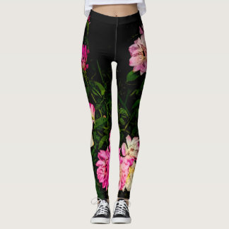 flowers leggings