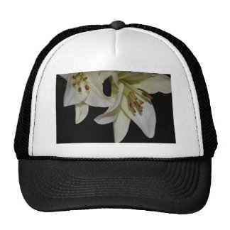 Flowers Lily White Shower Wedding Party Office Art Mesh Hats