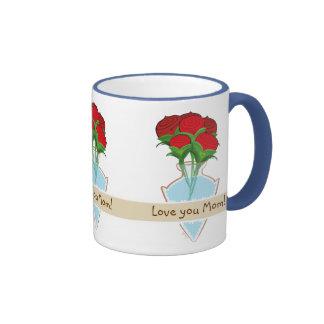 Flowers Love you mom mug