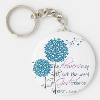 Flowers may fall key chains