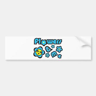 Flowers & Me Bumper Sticker